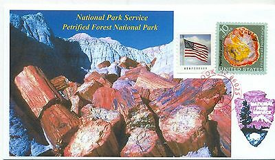 PETRIFIED FOREST NATIONAL PARK, Arizona National Parks Photo Handstamped PM
