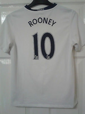 Boys Football Shirt - Manchester United - 2008-09 Away - Nike - ROONEY 10 - M