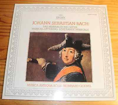 BACH The Musical Offering GOEBEL LP ARCHIV
