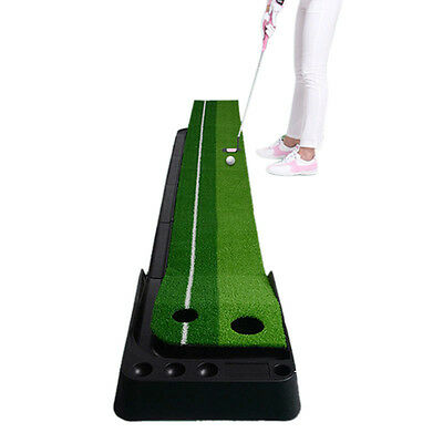 Chic Golf Putting Green Return Ball System Practice Mat Office Golf Training Aid