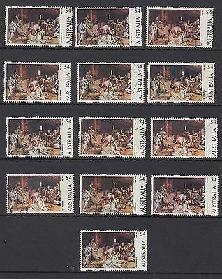 1974 $4 Shearing The Rams, 13 Stamps, Used