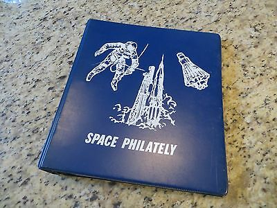 1980s Space Philately Binder w/Bi-Color Pages w/20 1973-1977 Space Voyage Cachet