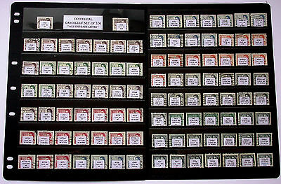 Centennial Cancelled Set of 100 Stamps ~ from PBlks Sheets Coils Precancels  BIN