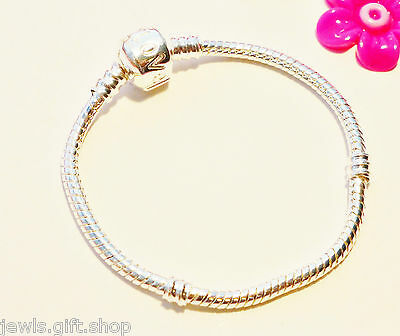 silver snake bracelet 18cm size starter for charms & beads Teenagers Childrens