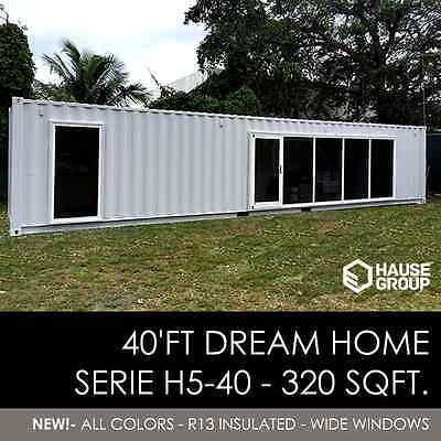 40' FT Shipping Container Home -320 Sqft - Brand New - Made in USA