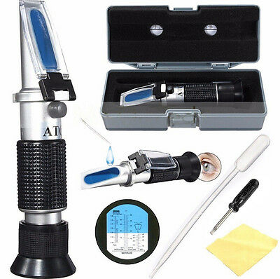 ATC Glycol Refractometer Car Antifreeze Battery Acid Engine Coolant Tester tb