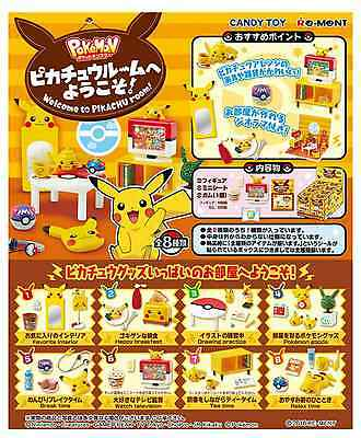 Miniatures Welcome to Pocket Monster Pikachu Room!  Box Set - Re-ment