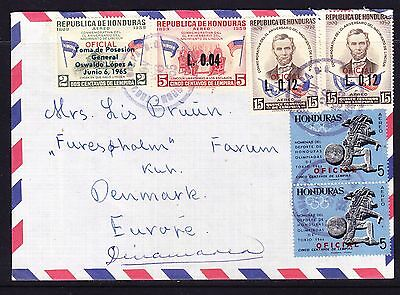 Honduras 1965 Air  Letter to Denmark