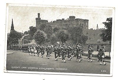 Queens Own Cameron Highlanders Postcard Inverness - 1960