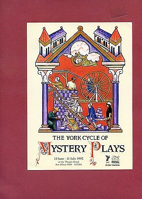 YORK CYCLE OF MYSTERY PLAYS ROBSON GREEN Theatre Flyer Handbill
