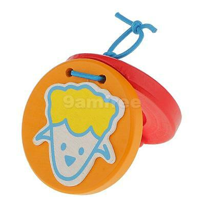 Wooden Castanet Kids Percussion Toy for Baby Early Education-Icecream
