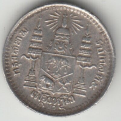 1/8 Baht 1905 about XF  silver Coin Münze Thailand Siam Rama V