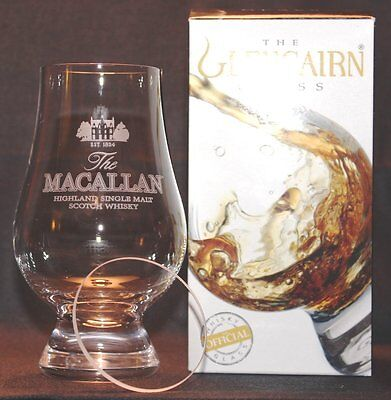 Macallan Glencairn Scotch Malt Whisky Tasting Glass With Watch Glass Cover