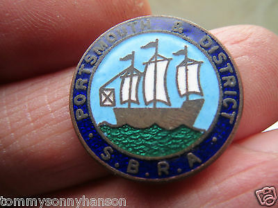Hand Enamelled Portsmouth & District S.B.R.A. Token
