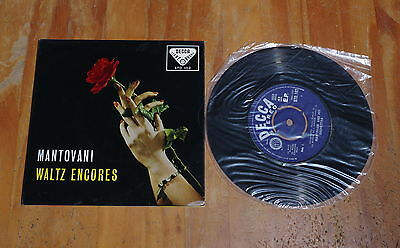 "'Waltz Encores' MANTOVANI 7"" vinyl single EP Decca STO 102"