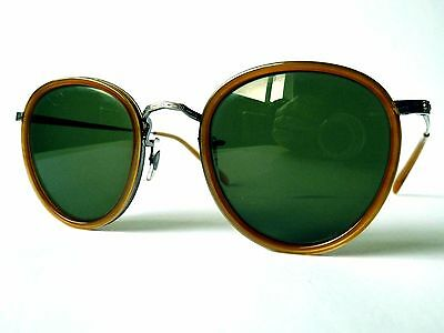 Oliver Peoples OV1104S MP-2 Polarized Sunglasses 5120/92 AMP Amber Brown / Green