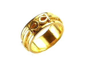 Egyptian Eternal Life Ankh Ring 24kt Gold plated egypt