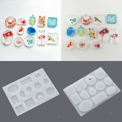 Pendant DIY Silicone Mold Jewelry Making Tool Beading Round Square Shape Mould