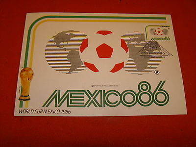 """Large 8.25"""" x 6"""" Mexico 1986 World Cup Final Postcard - Mexico 86"""
