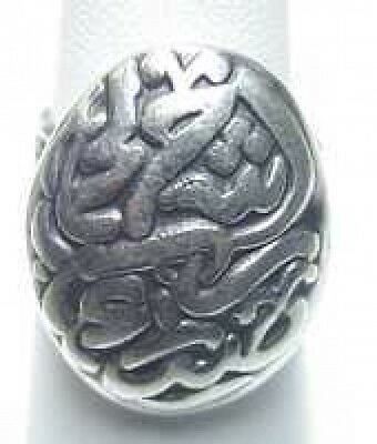 Allah Islamic Muslim Sterling Silver Ring Islam Jewelry