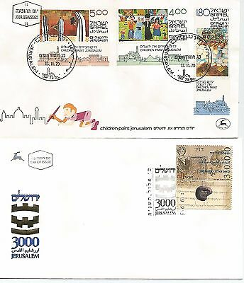 Israel Three Modern First Day Covers Includes St John Centenary  49