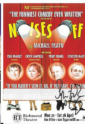 Signed Mini Theatre Poster Sylvester Mccoy Dr Who Noises Off Autograph Uacc