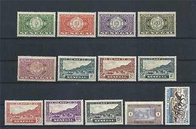 Senegal 1935 and up variety MH MLH