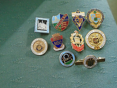 Collection Of10 Different Enamel Bowls Bowling Pin Badges - Lot 2