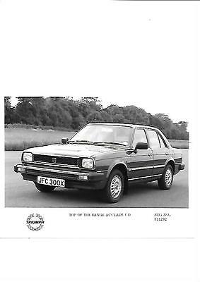 TRIUMPH ACCLAIM CD TOP OF THE RANGE PRESS PHOTO 'X' REGISTERED'brochure related'