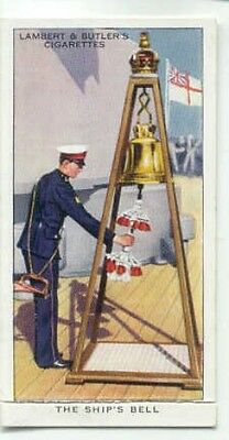 Cigarette card - Interesting Traditions of Forces - Ship's Bell - HMS Hood