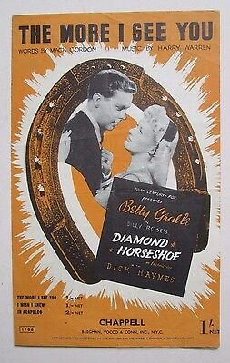 20th Cent.-Fox Film Music The More I See You  Diamond Horseshoe Betty Grable