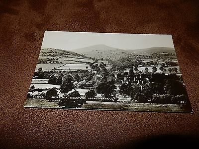 WHS Real Photo postcard -Sugarloaf mountain & Abergavenny Monmouthshire Wales