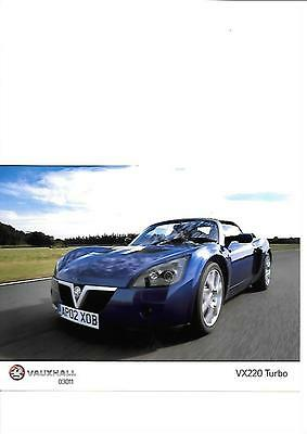 Vauxhall Vx220 Turbo Original Press Photo 2002 'brochure' Connected