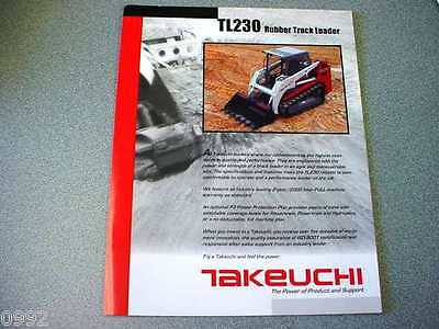 Takeuchi TL230 Rubber Track Loader Brochure