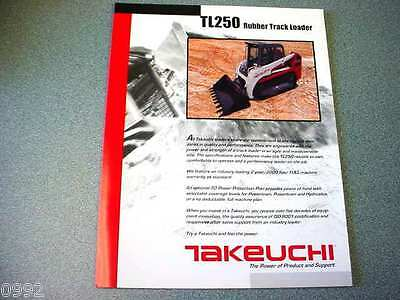 Takeuchi TL250 Rubber Track Loader Brochure