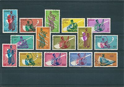 H322 Guinée 1962 Traditional Music Instruments Fine Used Full Set + Air Mail
