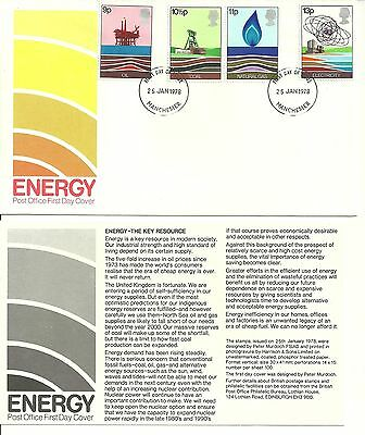 1978 - Energy Resources - First Day Cover - Not Addressed