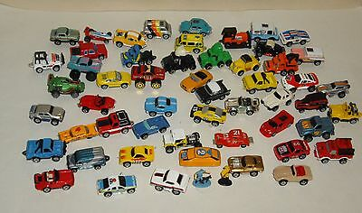 Older Micro Machines Mixed Lot of 53 Different Vehicles & 2 Figures