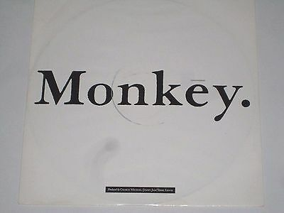 "George Michael-Monkey / Mixes White Label Promo 12"" Single Vinyl 1988 Rare"