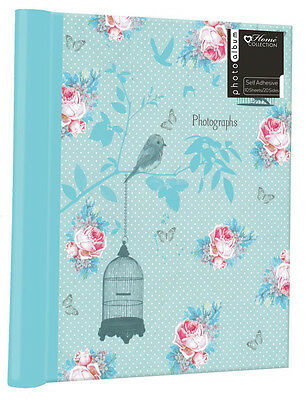 10 Sheet Floral Photograph Book Self Adhesive Photo Album Memories Scrapbooking