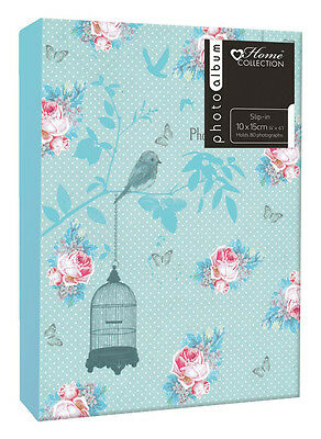 80 Slot Photo Album 4x6 Inch Floral / Birds Photograph Book Memories Chic Case