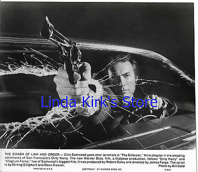 "Clint Eastwood Photograph ""The Enforcer"" Gun Through Broken Windshield"