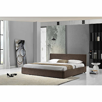 My.Bed Upholstered bed 140x200cm Brown imitation leather Double bed Bedstead