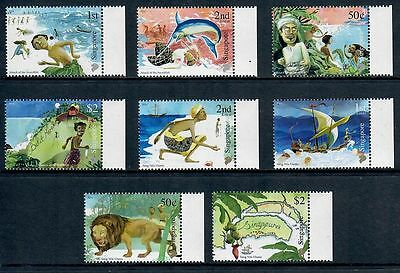 Singapore 2014 Myths and Legends Set of Eight Stamps MNH
