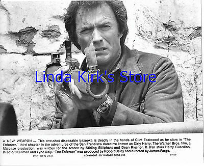 """Clint Eastwood Photograph Holding Bazooka """"The Enforcer"""" Dirty Harry"""