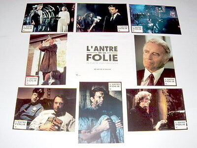 iN THE MOUTH OF MADNESS John Carpenter Stephen King Sam Neil 8 FRENCH LOBBYcARDs