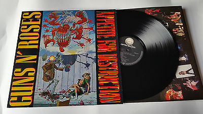 Guns And Roses Appetite For Destruction A1 B1 Banned Cover Original 1987 Lp