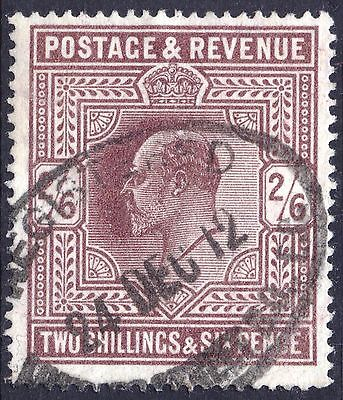 GB 1911 2s6d Dark Purple Somerset House SG 317 Scott 139a VFU Cat £190($234)