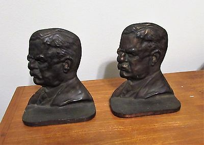 Vintage pair of Teddy Roosevelt bookends Theodore Gifthouse 1926