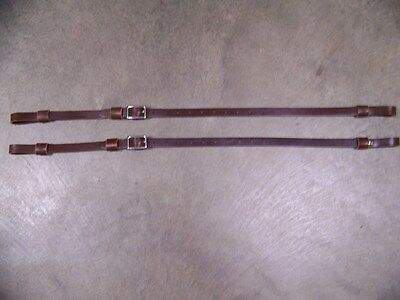LEATHER LUGGAGE STRAPS for LUGGAGE RACK/CARRIER~(2) SET~~3/4 IN. WIDE~BROWN~S.S.